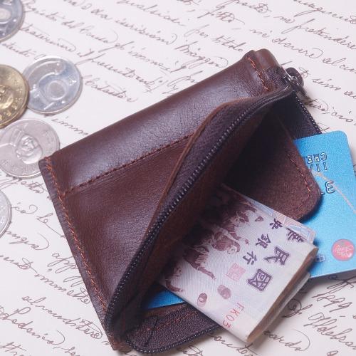 『玩皮女孩』紅咖_拉鍊零錢包,卡夾,票夾,零錢包,錢包