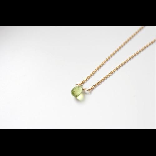 八月份誕生石-LUCKY/橄欖石Peridot /ペリドット鎖骨項鍊