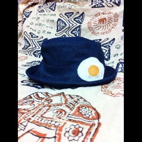 漁夫帽 帽子 荷包蛋牛仔