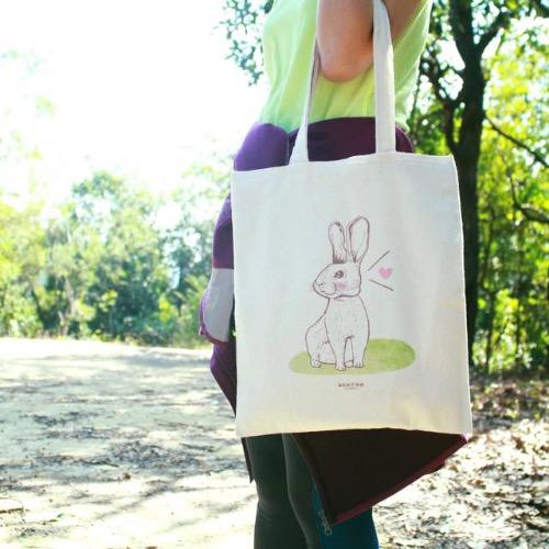 【動物系列】#3 好奇小兔子帆布袋