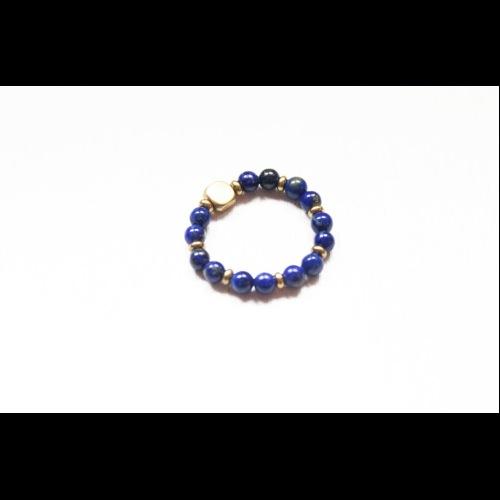 Lapis Lazuli青金石經典天然石彈性戒指
