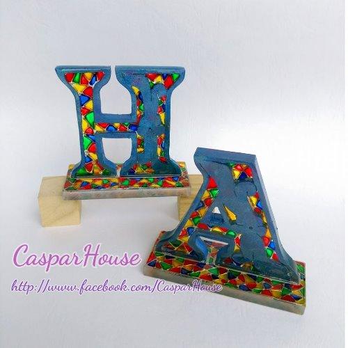彩繪字母木牌