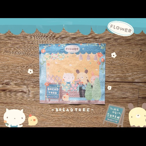 Flower - 麵包樹BreadTree〔BYC印花萬用布〕