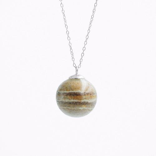 木星水泥項鍊/頸鏈 - 星球系列