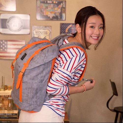 Deserve |橘色休閒雙扣後背包