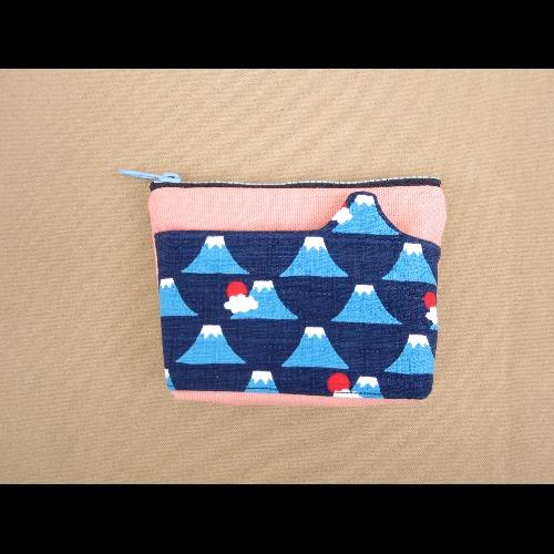 +1=5/造型口袋零錢包/富士山深藍