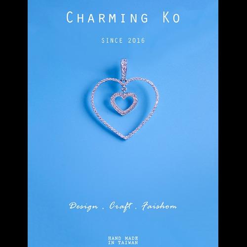 Charming Ko 925純銀吊墜心心相印
