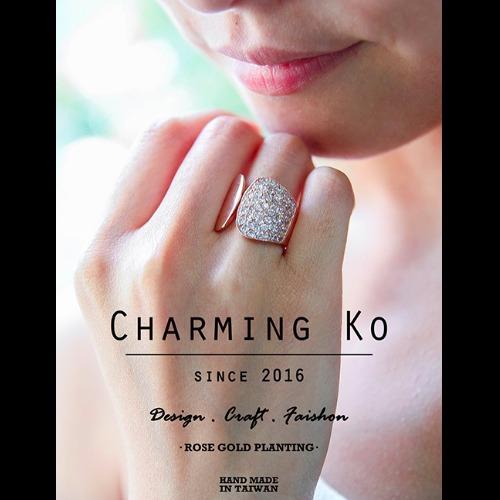 Charming Ko  個性玫金浪漫戒指
