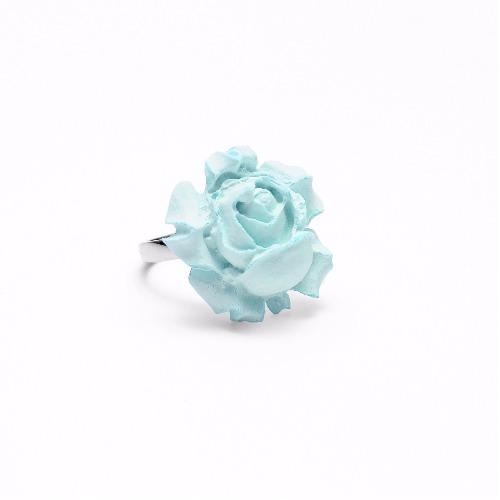 玫瑰花指環/戒指(薄荷綠水泥) - 賞.想特別版