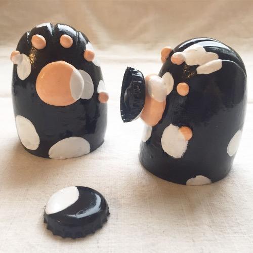 貓掌來襲-磁鐵肥皂架/妹妹草間黑貓