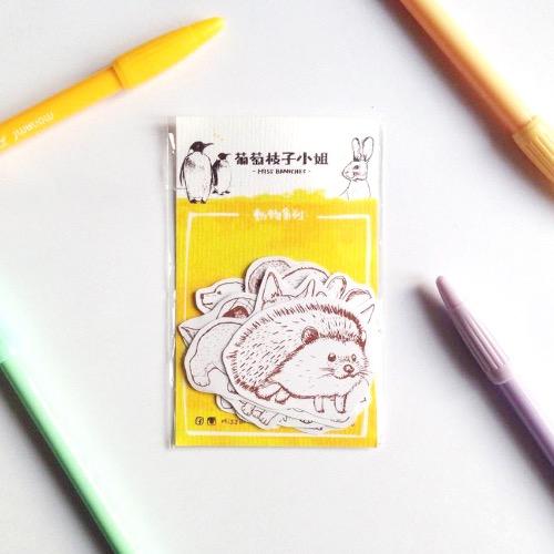 【動物系列】單色 填色貼紙組
