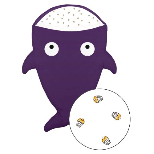 【BabyBites】西班牙製100% 純棉手作嬰兒/幼兒睡袋|防踢被| 紫色  《夏季版》 (Muffin 圖案)