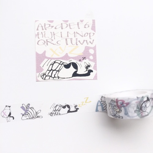 XYZ喵星人教英文 紙膠帶(masking tape)