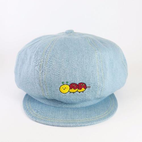 藍色牛仔報童帽 / 章魚毛蟲燒