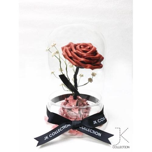 皮革玫瑰玻璃瓶
