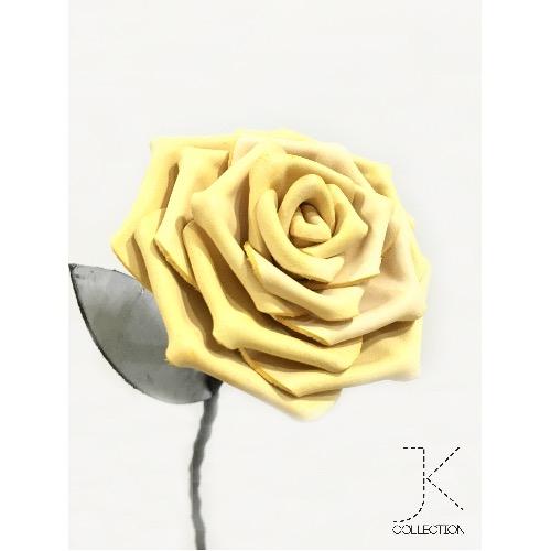 霜降皮革黃玫瑰