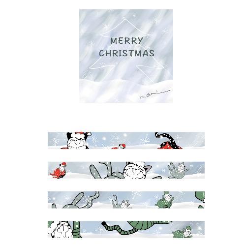 紙膠帶-記憶中的christmas(聖誕貓貓)