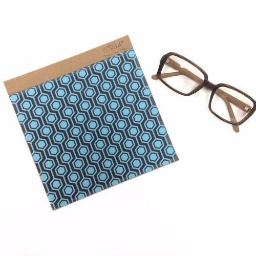 亮藍無限六角形〔BYC印花萬用布〕 ll 擦拭布
