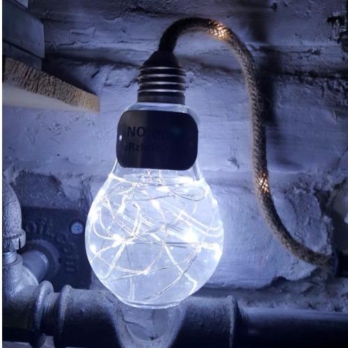 ●水火同源 液態燈泡 【冷白版 - 白光】原創純手工打造燈泡及木盒  USB供電小夜燈 聖誕禮物 / 交換禮物/生日禮物