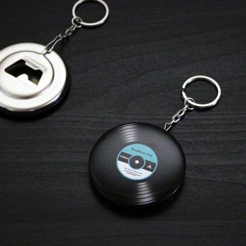黑膠唱片鑰匙圈-開罐器(共5款)酒瓶.汽水瓶.開罐openner 交換禮物 聖誕節 生日