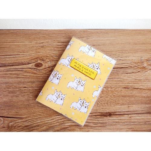 狗狗不是寵物而是我的家人/ 方格單行 筆記本 日記本