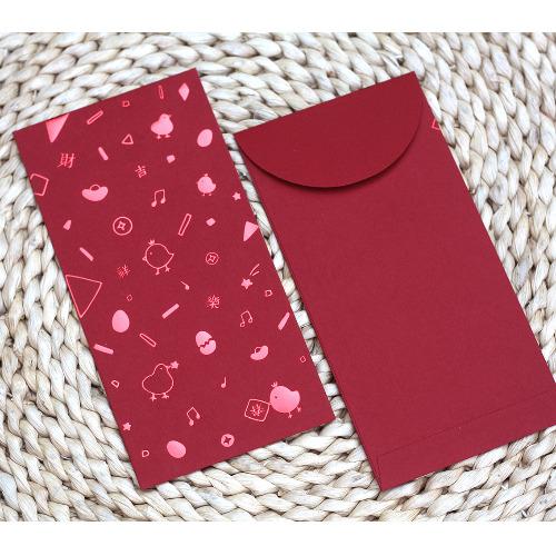 《KerKerland》喜樂豐收/雞年☉紅包袋(6入紅色燙金/燙紅)