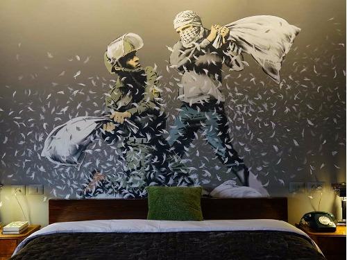 「世界最差景色」酒店,以突顯以巴之間的衝突