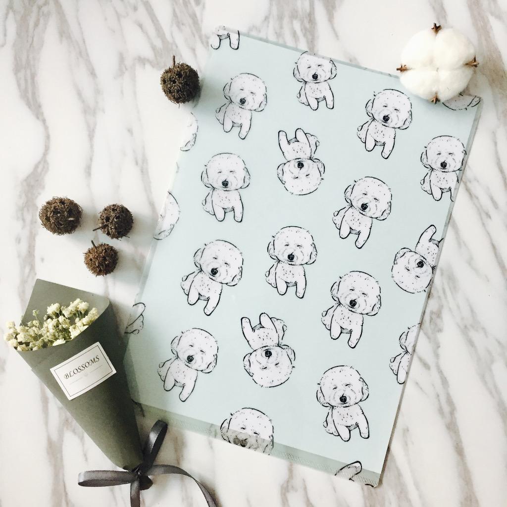 A4白色Poodle文件夾