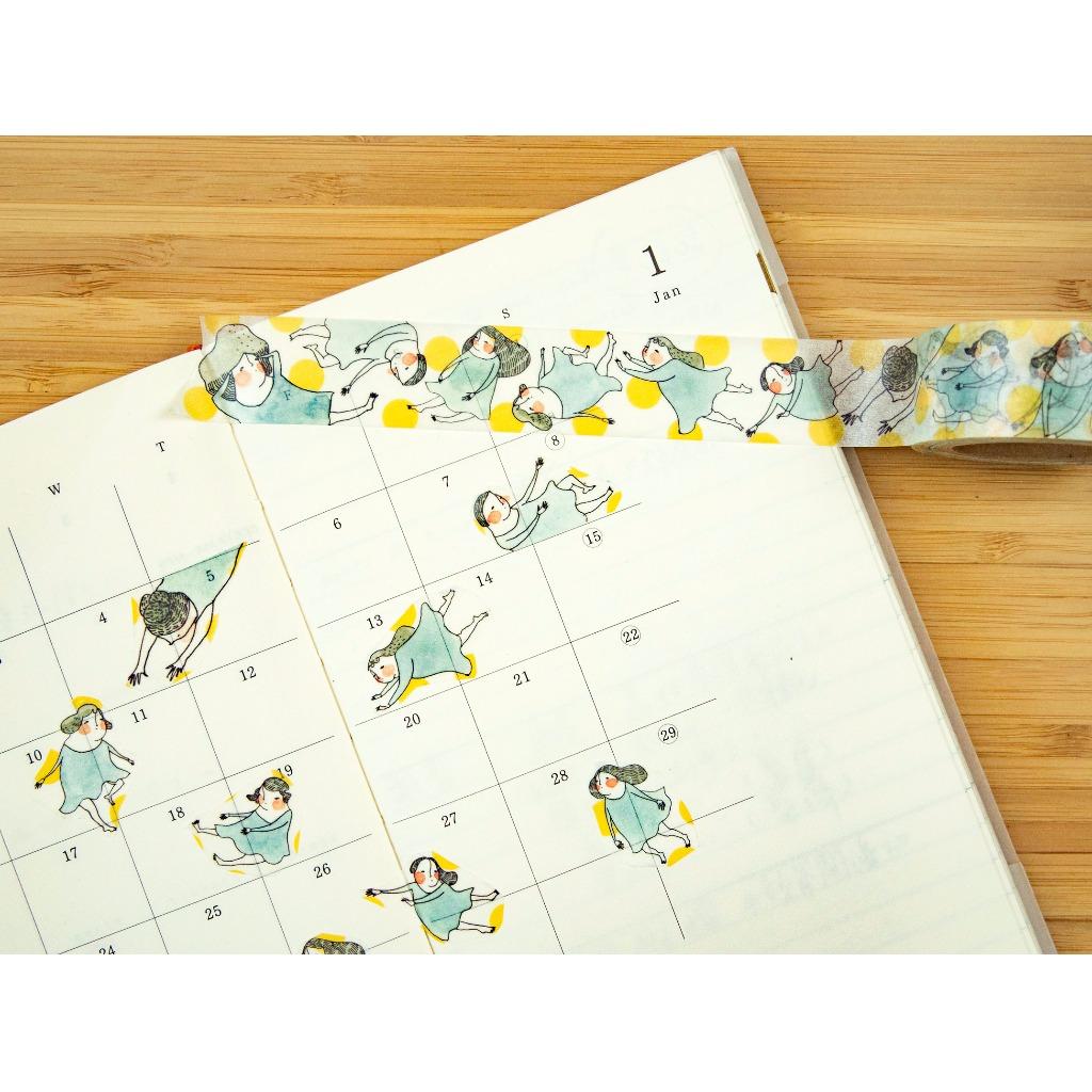 追月的人/日本制和紙膠帶 dodolulu