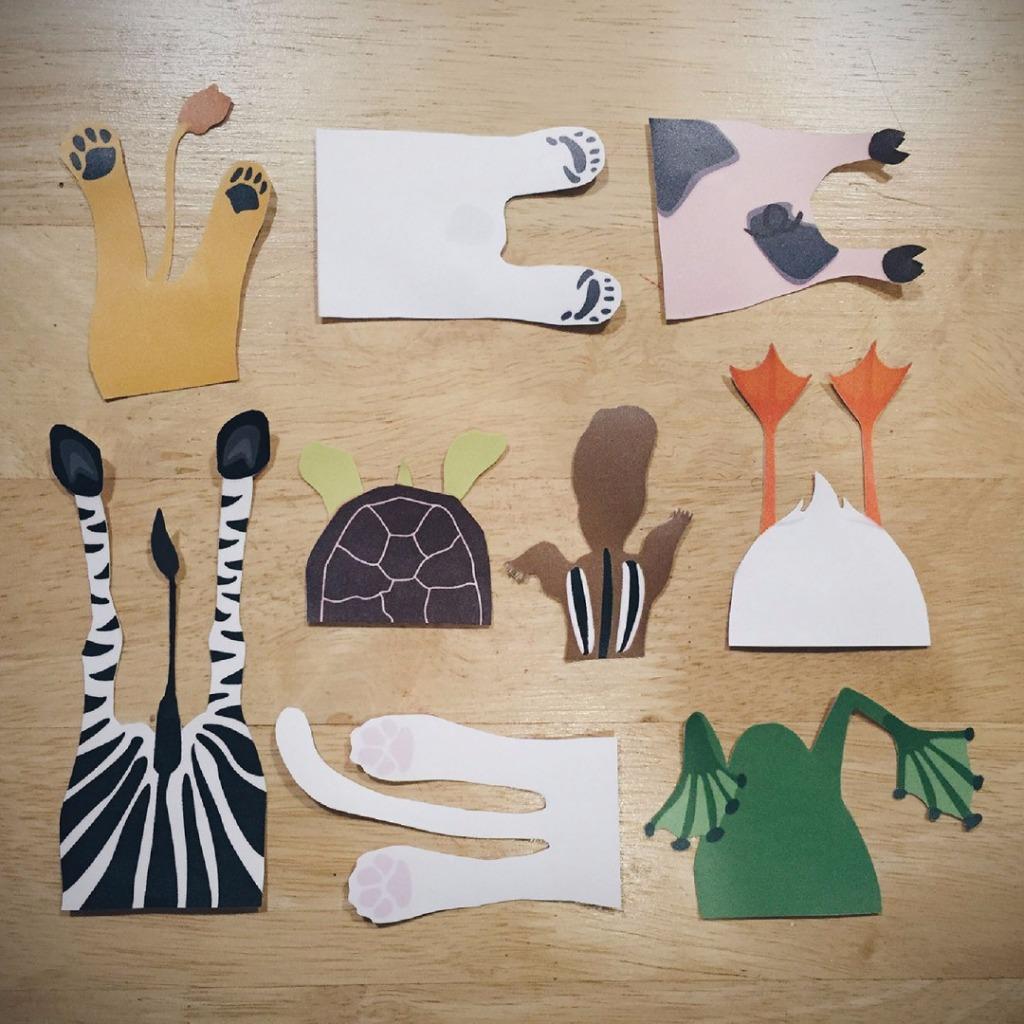 原創設計躲貓貓防水貼紙-調皮組合貼紙(9入)