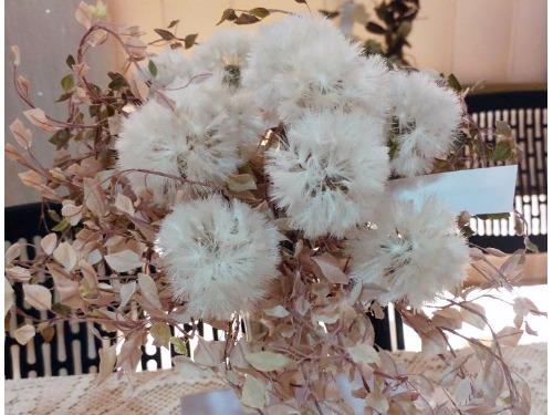 栩栩如生的染布花