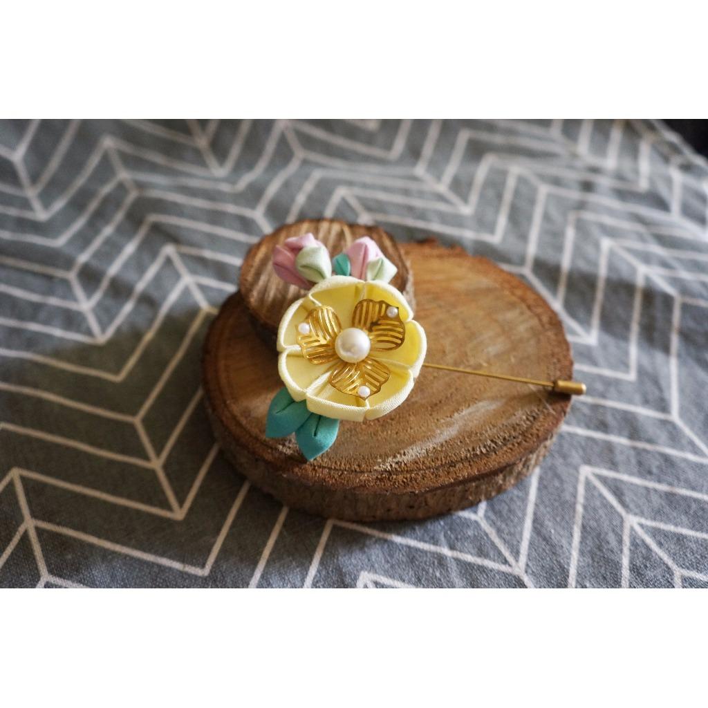 布藝系列 §【花與含苞待放】棉布花藝胸針
