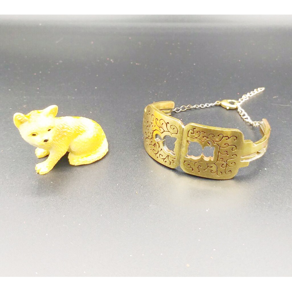 原創金屬貓咪鑰匙手鐲