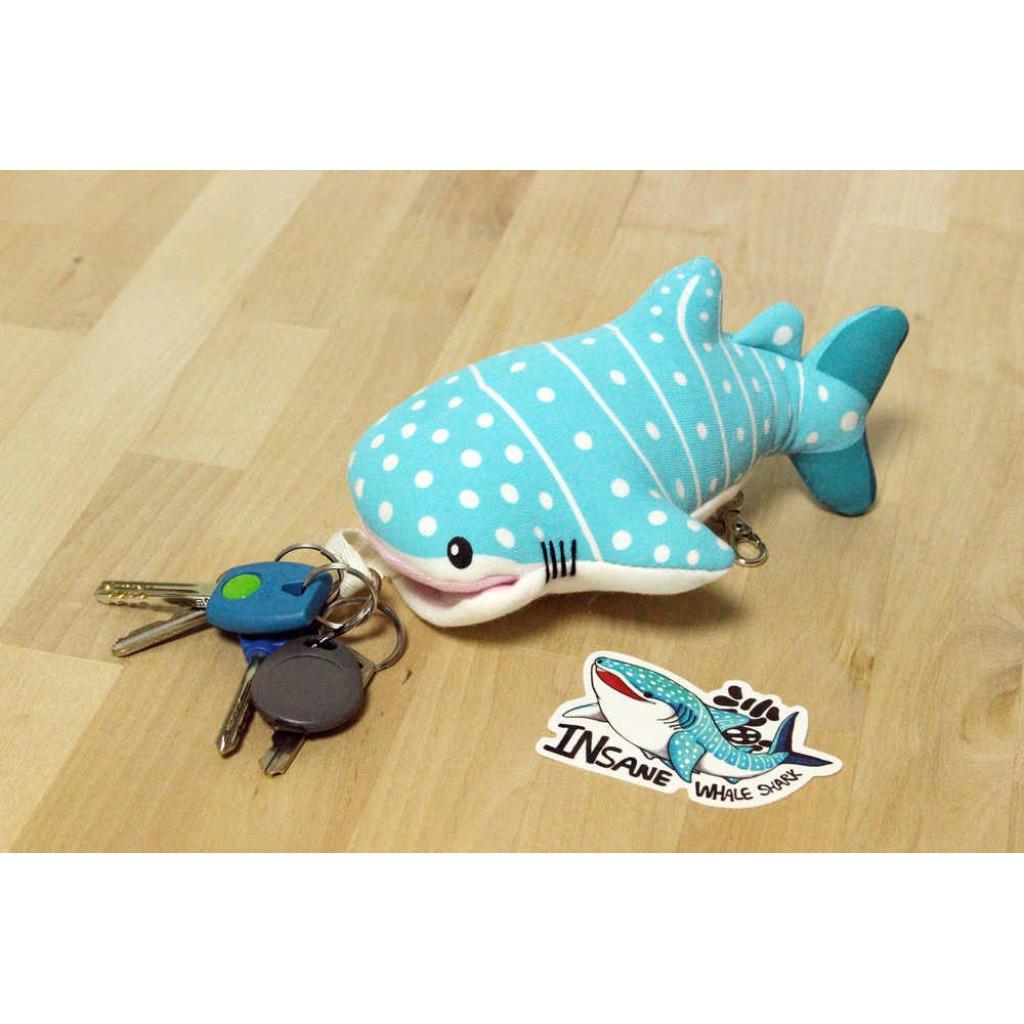豆腐鯊(鯨鯊)點點 spot whale shark 多功能娃娃-鑰匙包 ( 娃娃 / 玩偶 / 鑰匙包 / 鯨鯊 / 鯊魚 )
