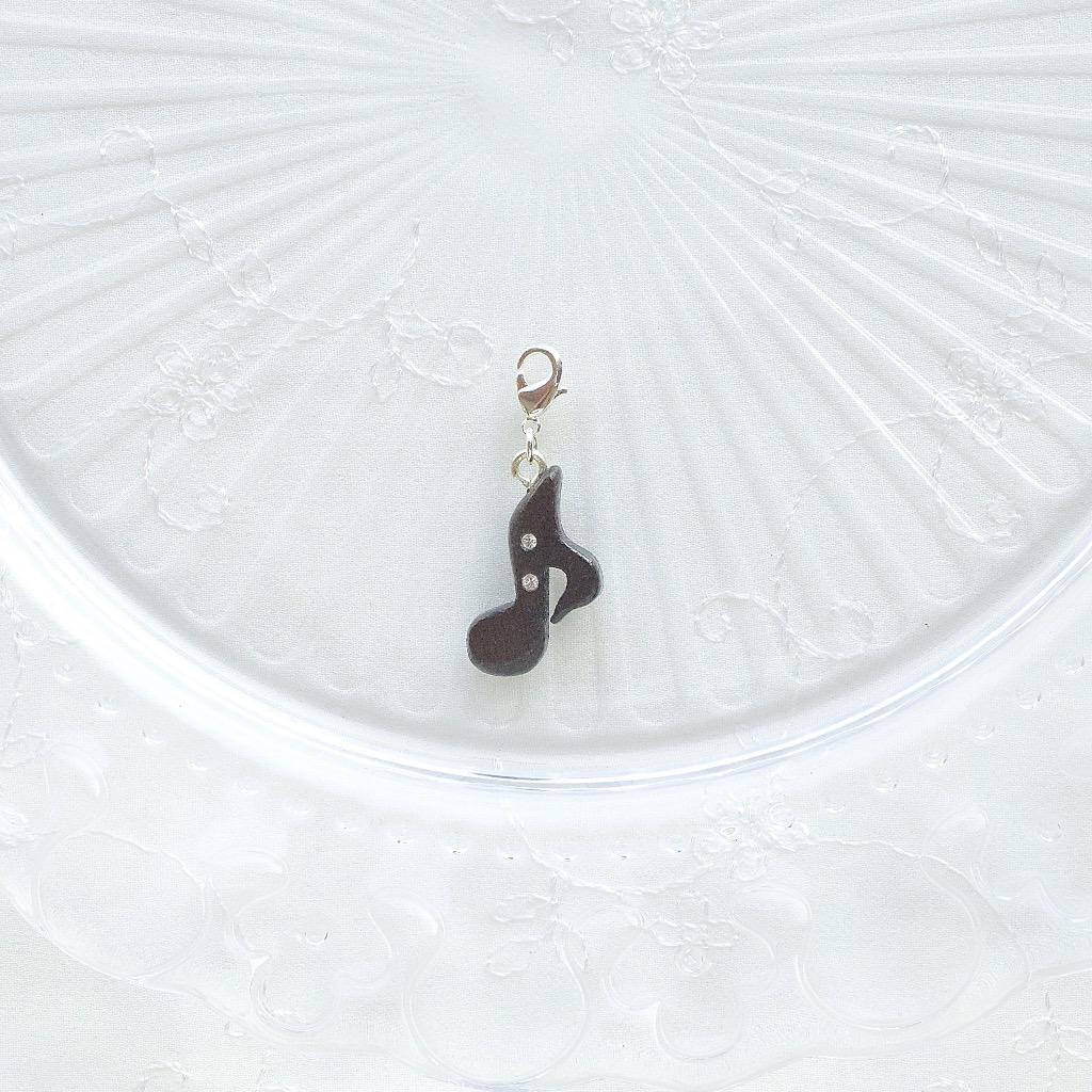 【Honeywood】手工木製吊飾 》》音符 。吊飾 禮物訂製