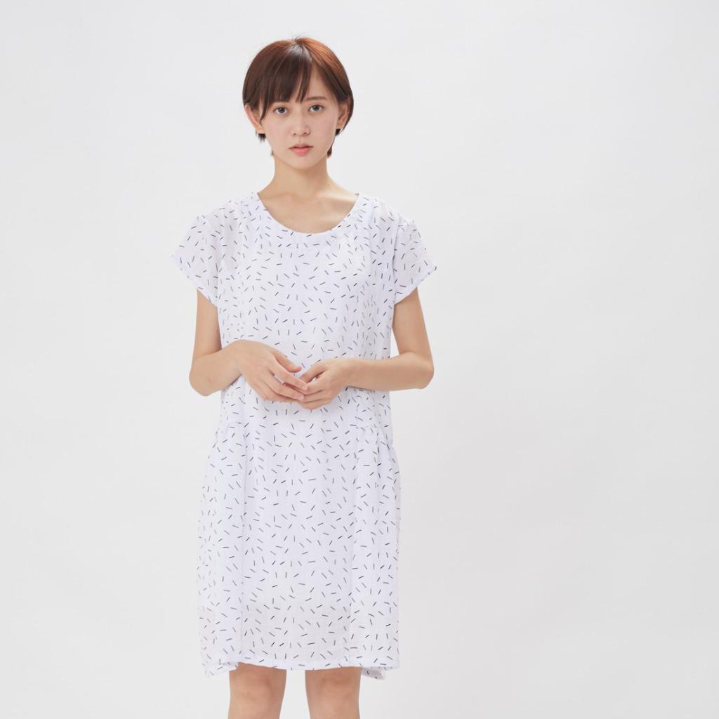 Malibu 馬里布細褶度假洋裝/白火柴