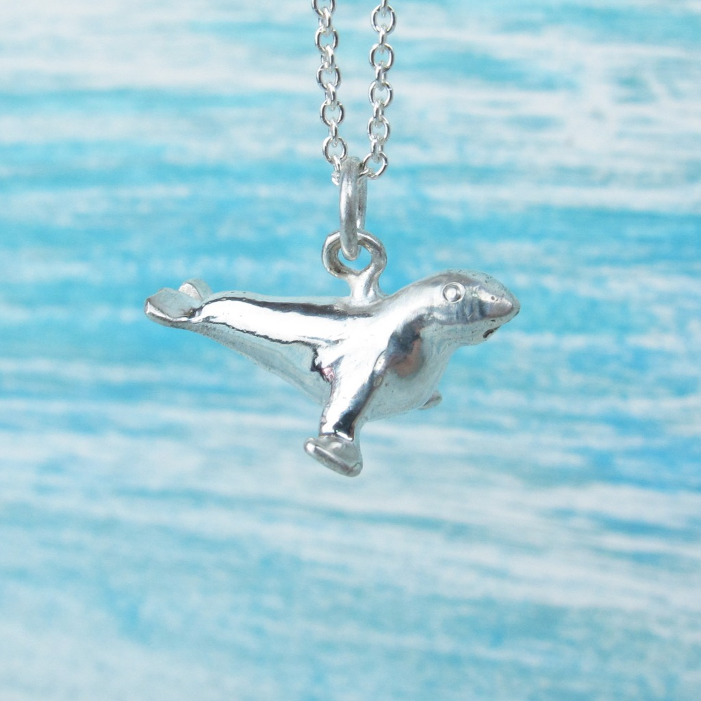 【Diving silver】925銀海洋潛水銀飾--迷你3D海狗項鍊