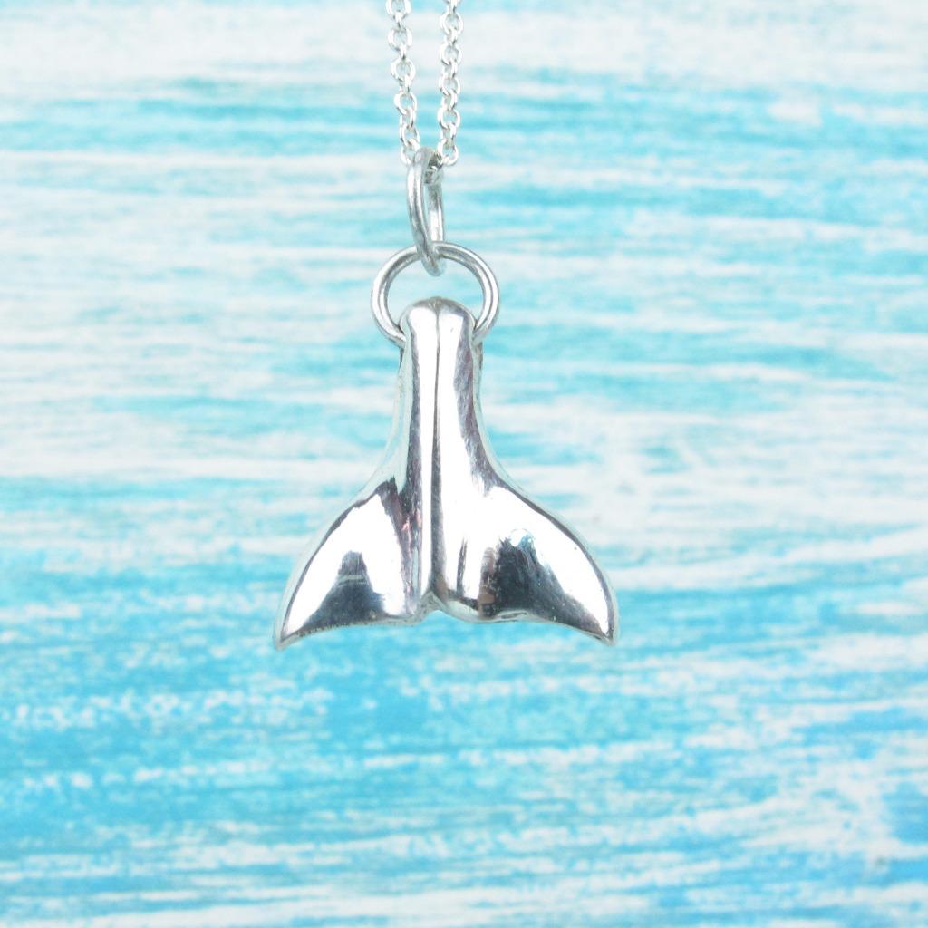 【Diving silver】 925銀海洋潛水銀飾--可愛鯨魚尾項鍊