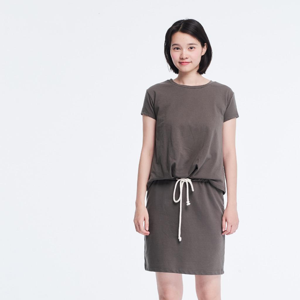 法國小毛圈衣裙洋裝/橄欖綠