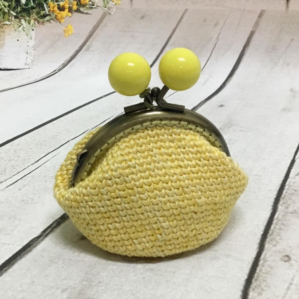【娃娃魚】苧麻編織口金包-黃色儷人