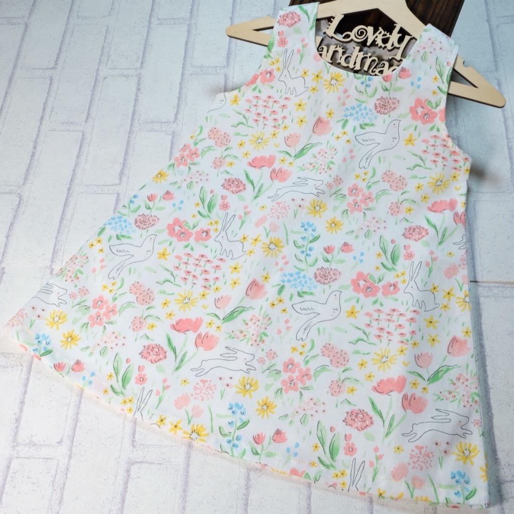 Lovely Garden Handmade Sleeveless Dress