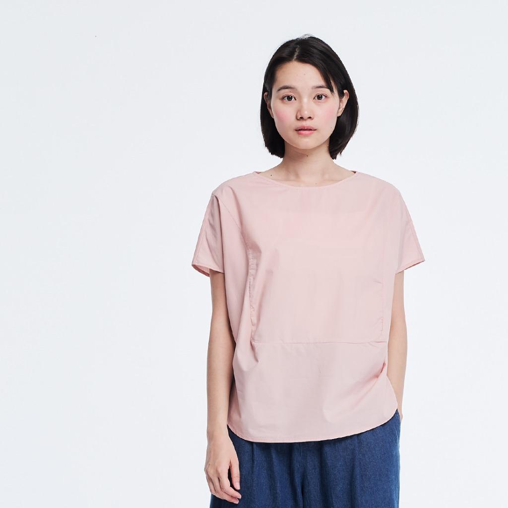 Debbie 方型拼接上衣/櫻花粉