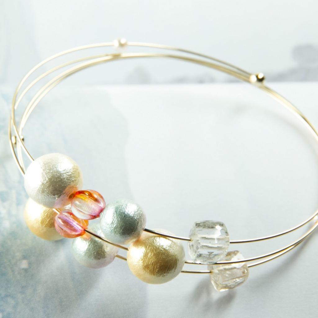 11月誕生石-太陽神之石 黃石 x金星 手工手鍊系列-棉珍 x捷克玻璃工藝