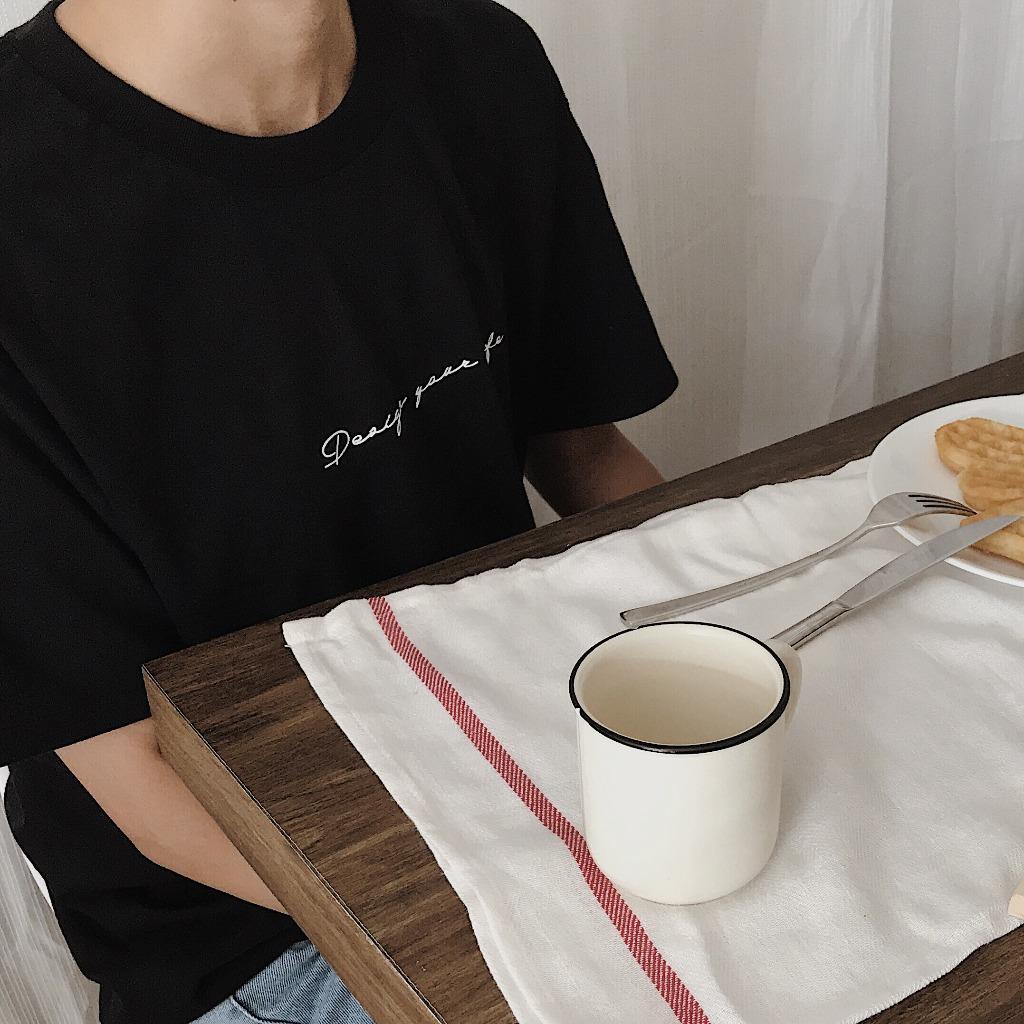 黑色簡約文字T恤 - Quotes collection-香港本地設計
