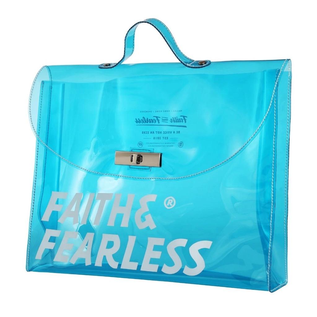 Faith & Fearless PVC FOLDER BAG BLUE 公文袋
