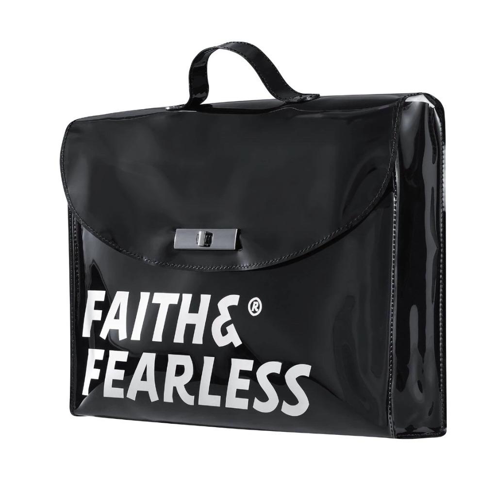 Faith & Fearless PVC FOLDER BLACK 公文袋