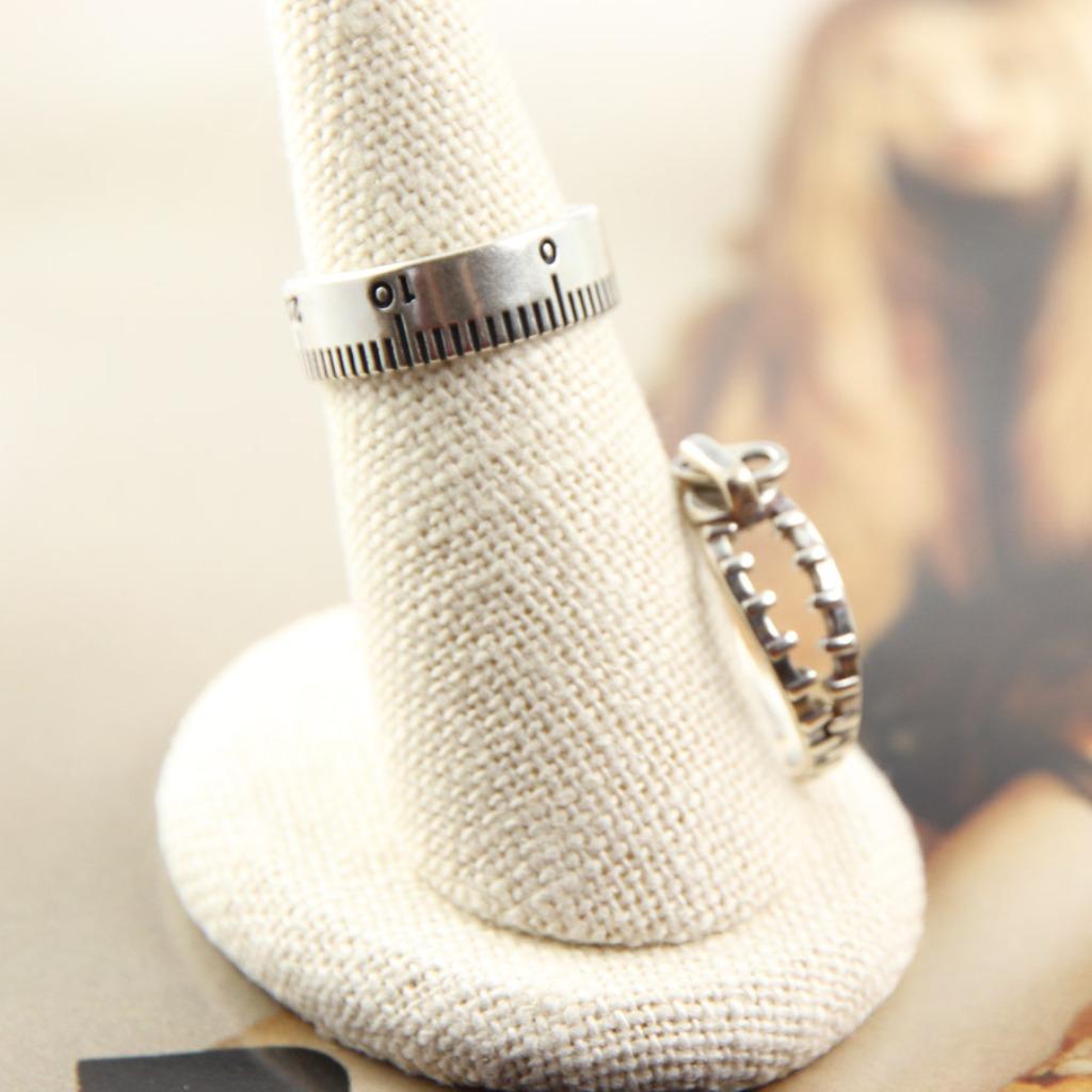 輕奢全純銀飾系列 尺與拉鍊玩趣戒指