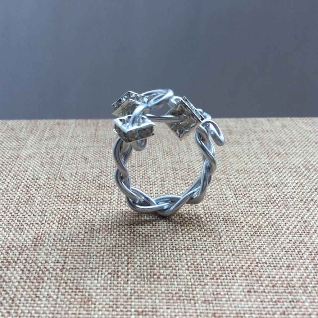 [W Bracciale] 捲捲指環:方鋯石環