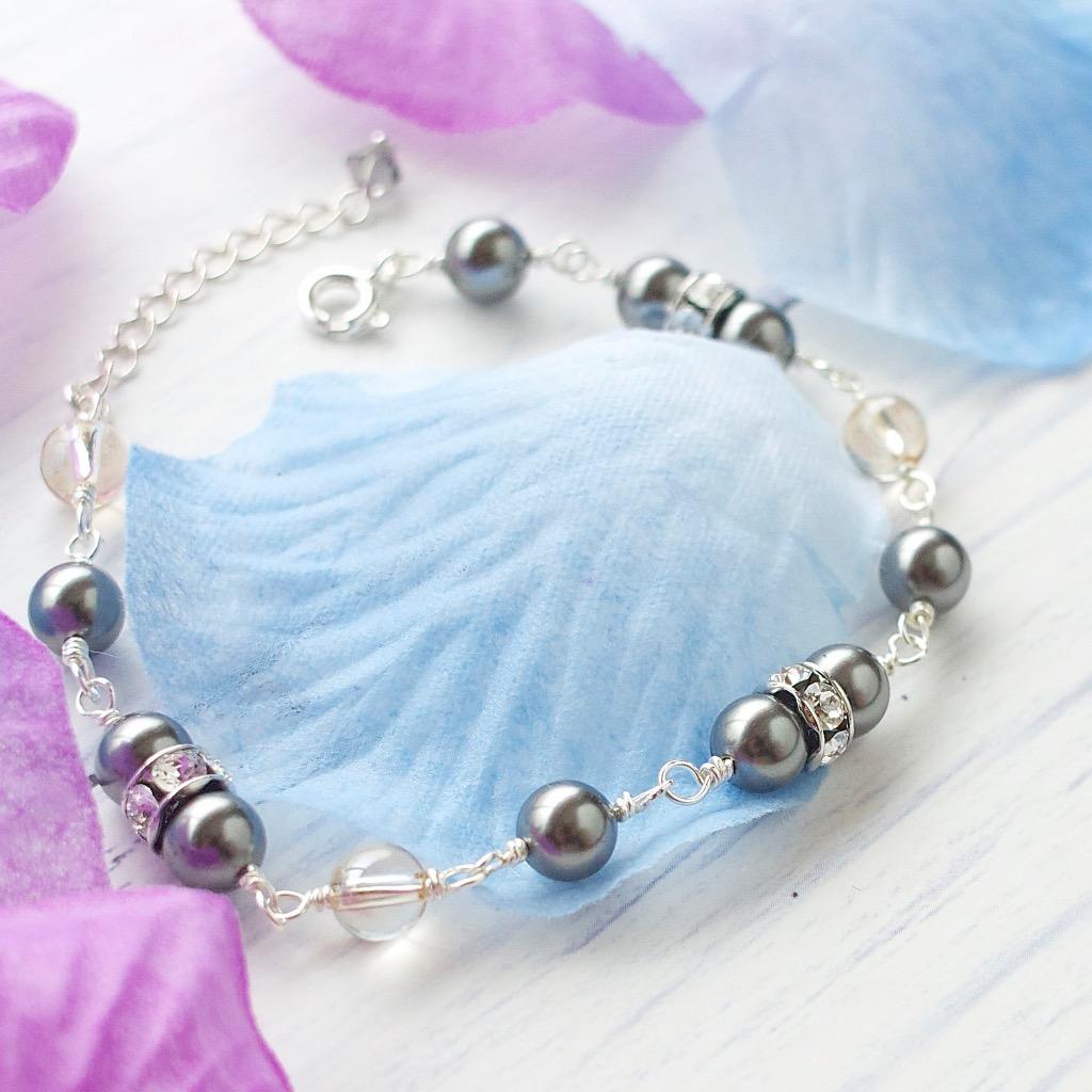 施華洛世奇高貴珍珠手鏈 手工純銀手鏈 禮物訂製
