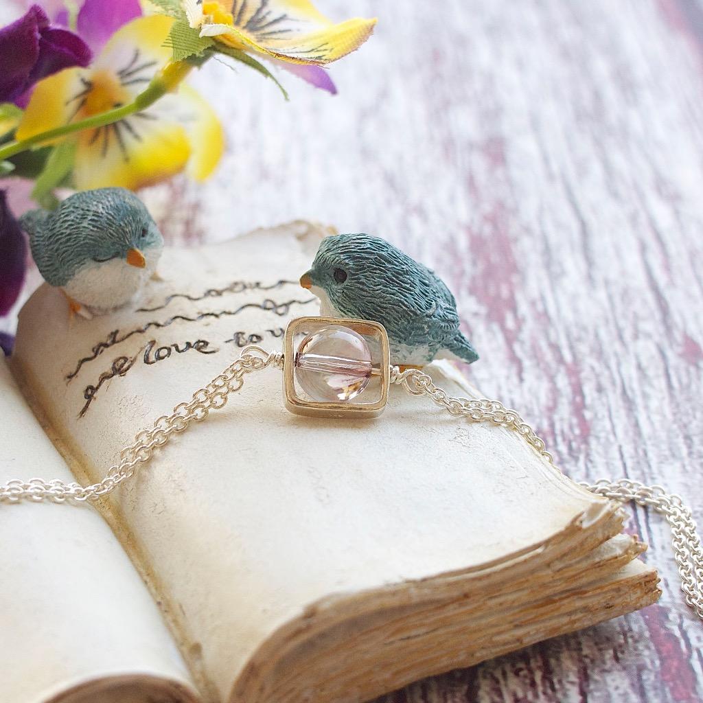 施華洛世奇粉紅水晶 手工純銀手鍊 禮物訂製